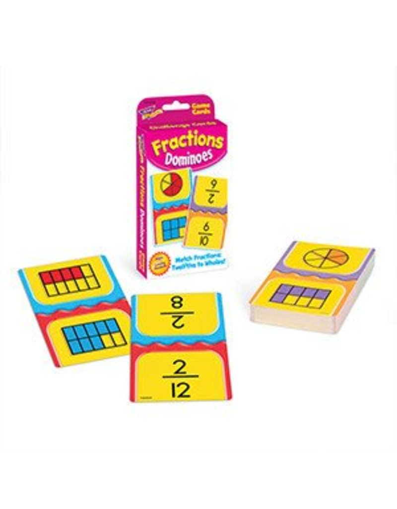 Fractions Dominoes flashcards