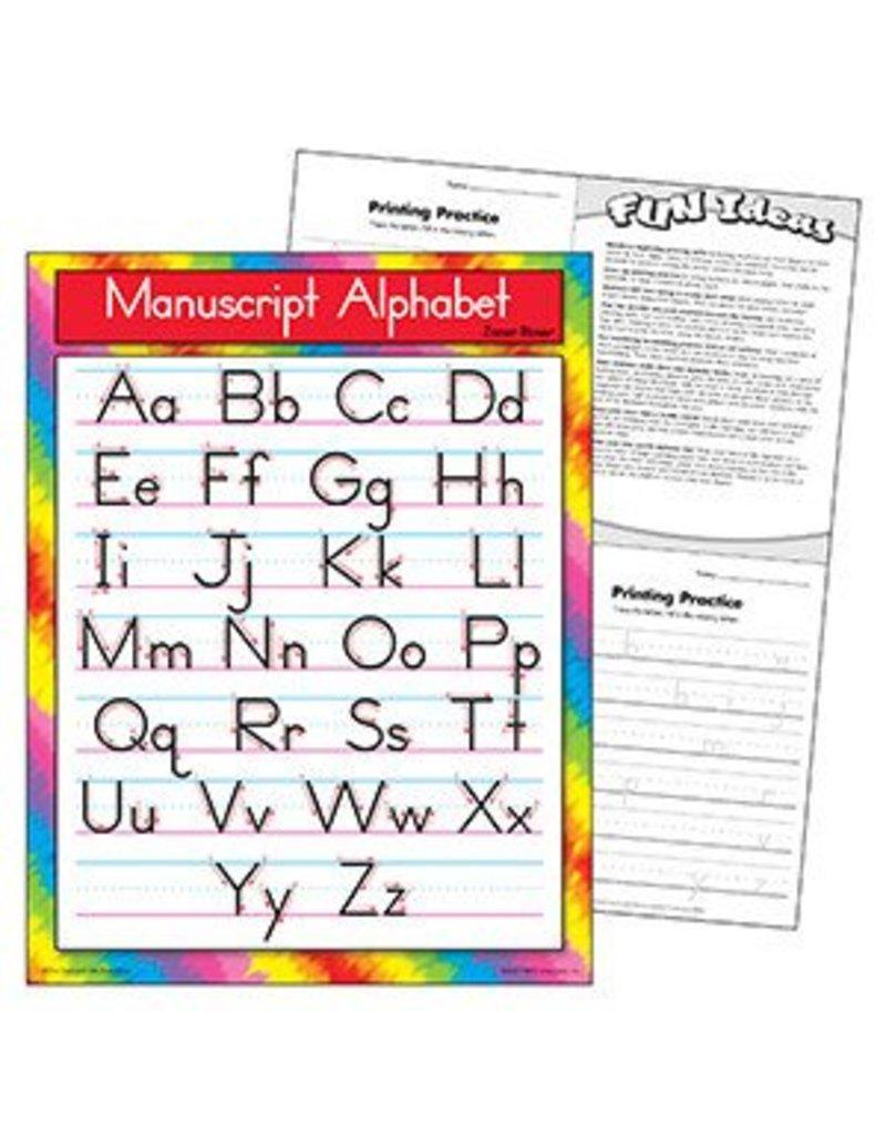 Manuscript Alphabet Zaner-Bloser Chart