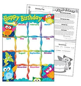 Happy Birthday Owl-Stars!® Chart