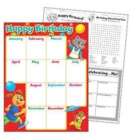 Birthday Playtime Pals Chart