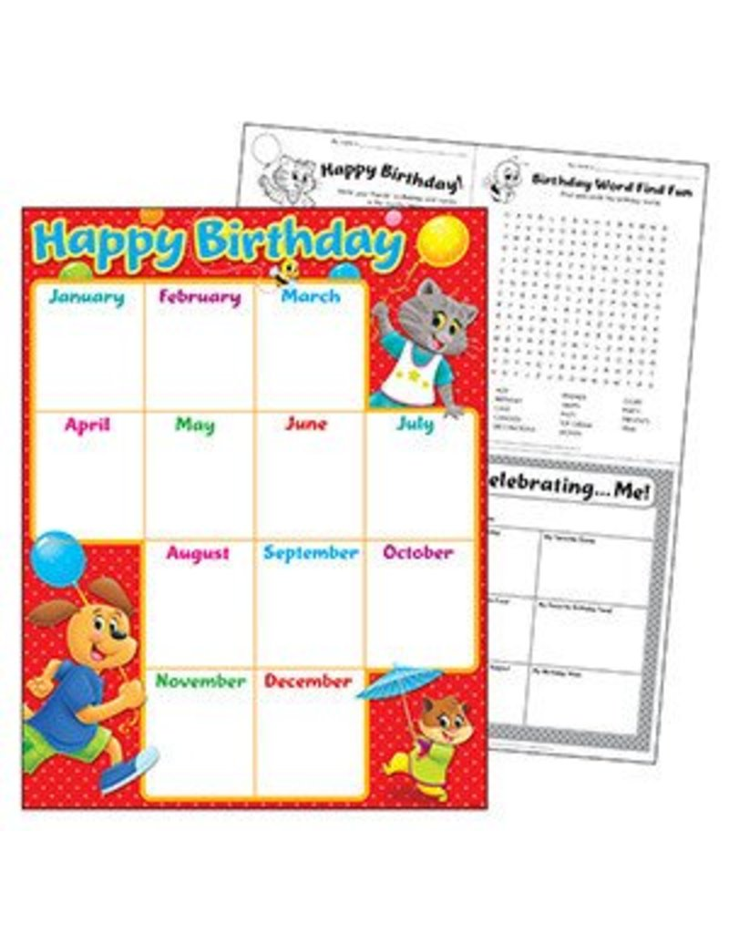 Birthday Playtime Pals Chart