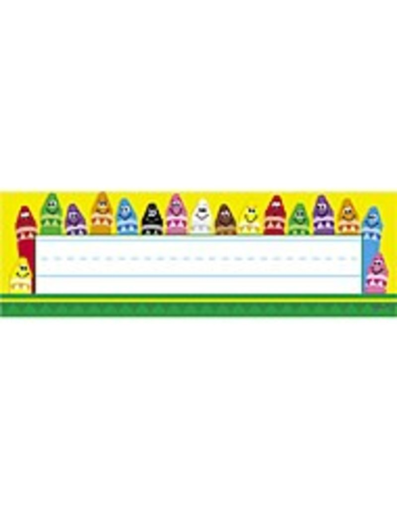 Colorful Crayons Nameplates