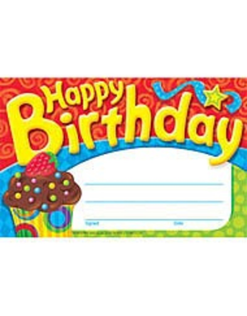 Happy Birthday cupcake award