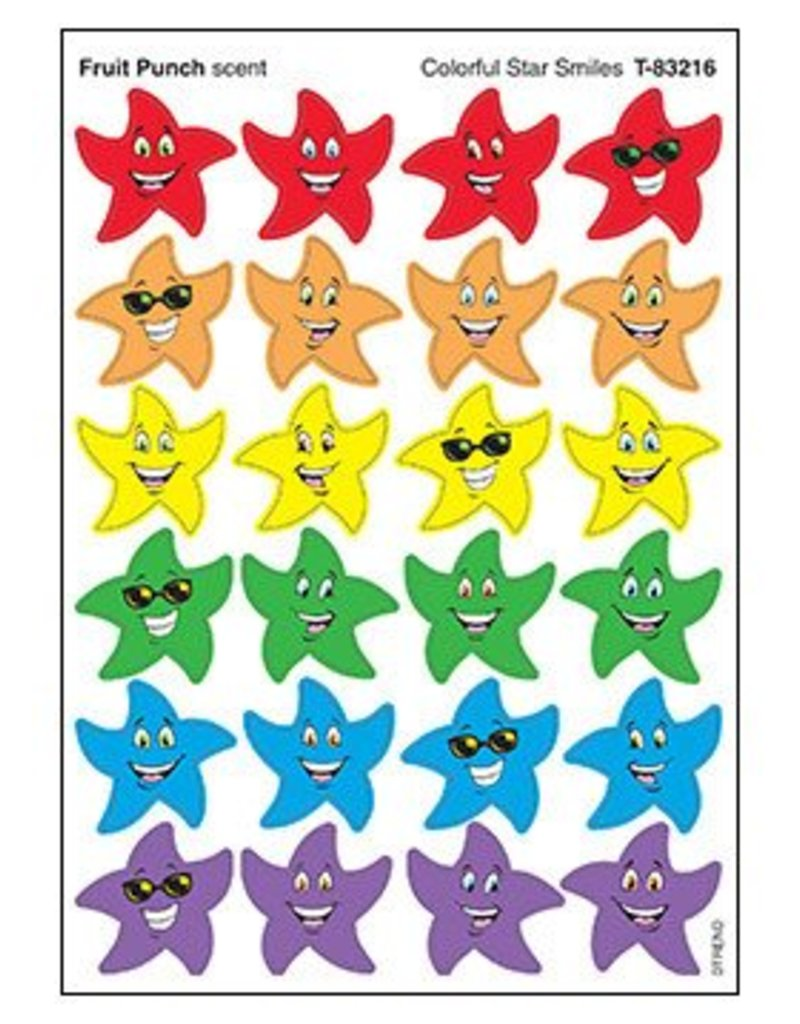 Colorful Star Smiles/Fruit Punch Stickers