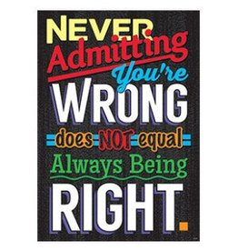 *Never Admitting You're... Poster