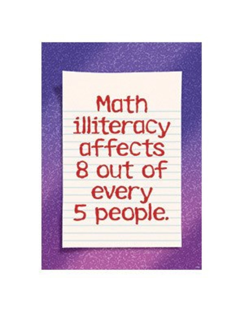 Math illiteracy affects 8 of 5