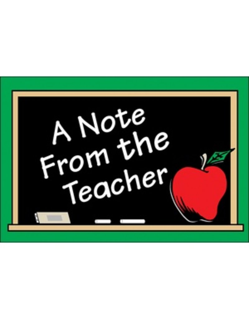 A Note from the Teacher Postcard