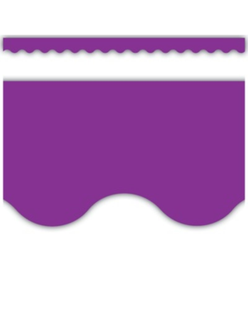 Purple Scalloped Border