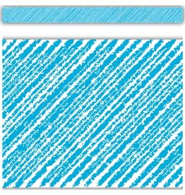 *Aqua Scribble Straight Border Trim