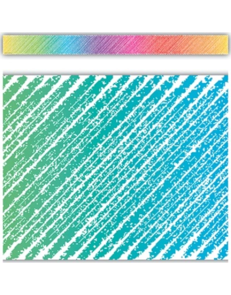 Colorful Scribble Straight Border Trim