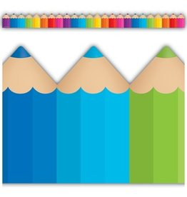 Colored Pencils Die-Cut Border Trim