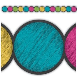 Chalkboard Brights Circles Die-Cut Border Trim