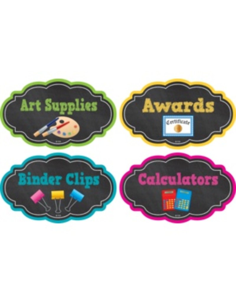 Chalkboard Brights Supply Labels