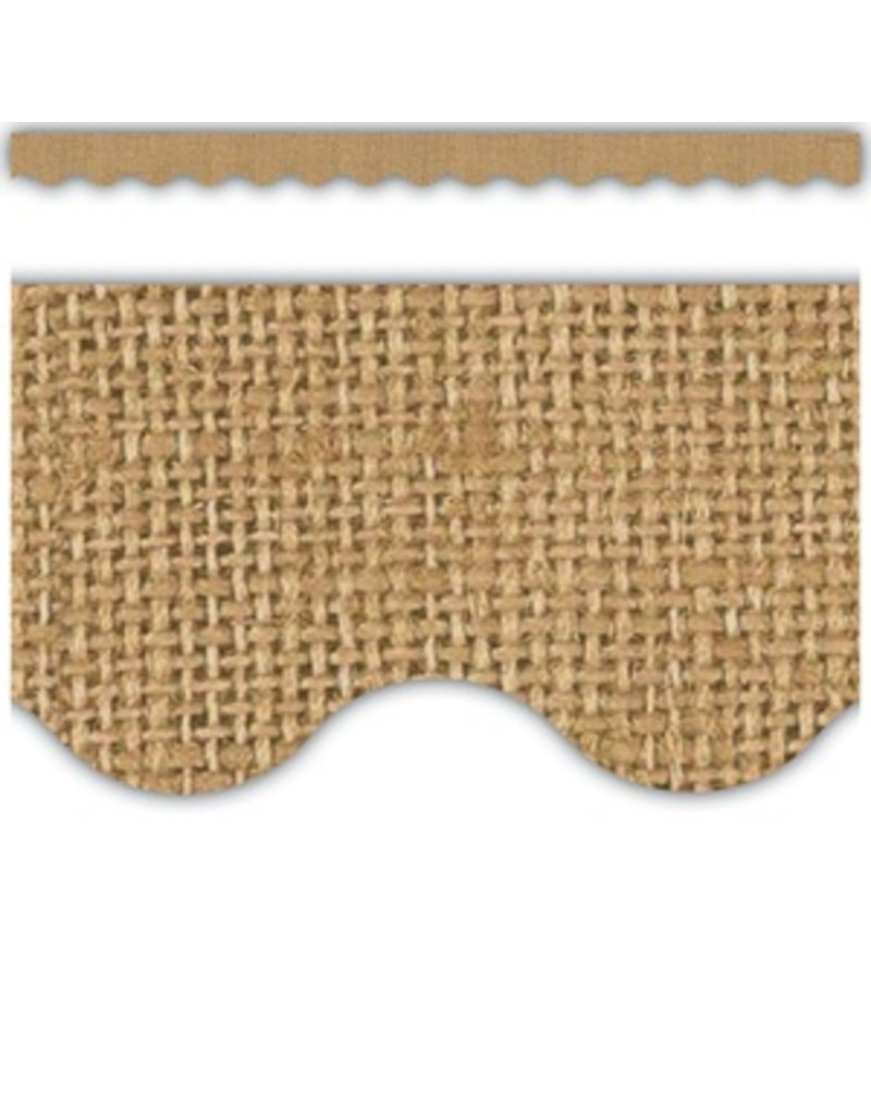 Burlap Scalloped Border Trim