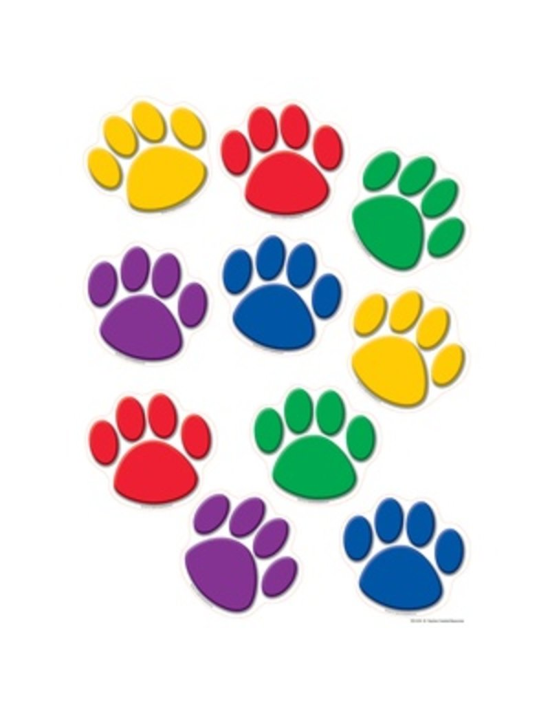 Colorful Paw Prints Accents