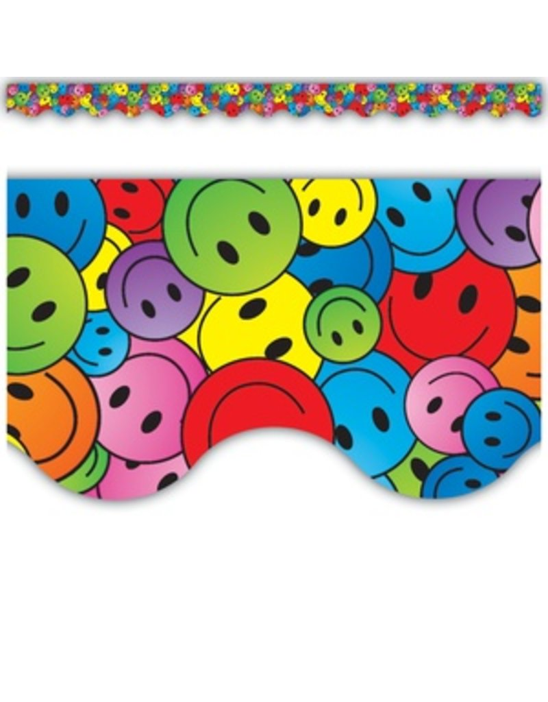 Happy Faces Scalloped Border Trim