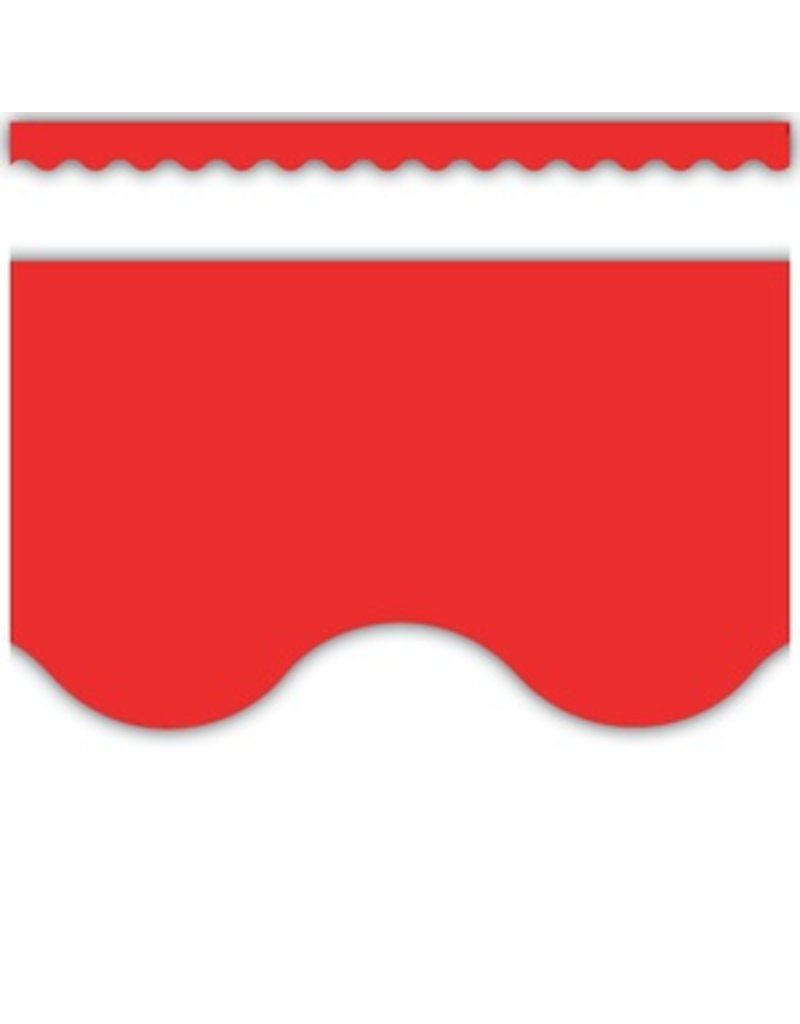 Red Scalloped Border