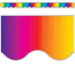 Multicolor Scalloped Border Trim