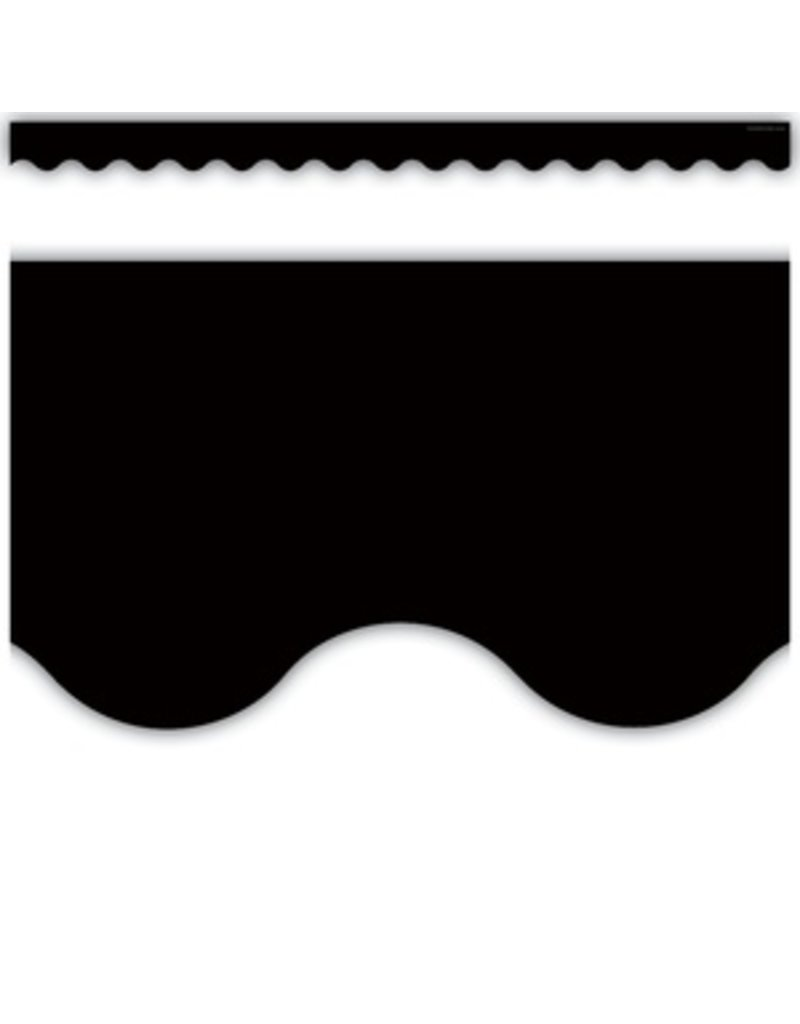 Black Scalloped Border