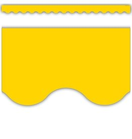 Yellow Gold Scalloped Border Trim