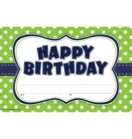 Lime Polka Dots Birthday Awards