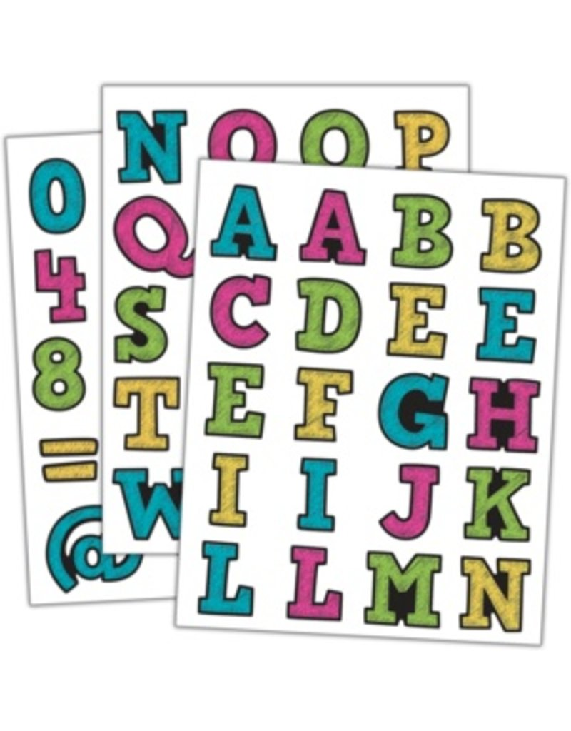 Chalkboard Brights Alphabet Stickers