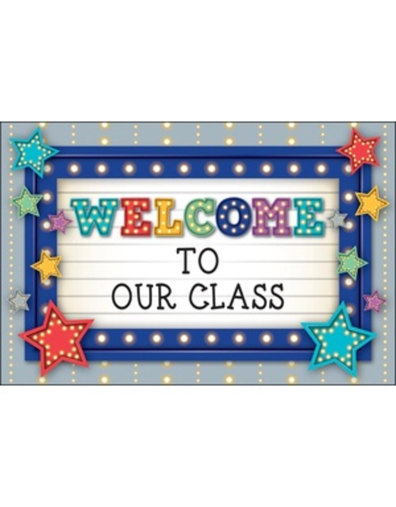 Marquee Welcome Postcards