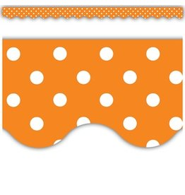 orange polka dot border