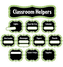*Lime Polka Dots Classroom Helpers Mini Bulletin Board