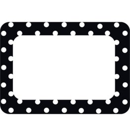 Black Polka Dot 2 Name Tags/Labels
