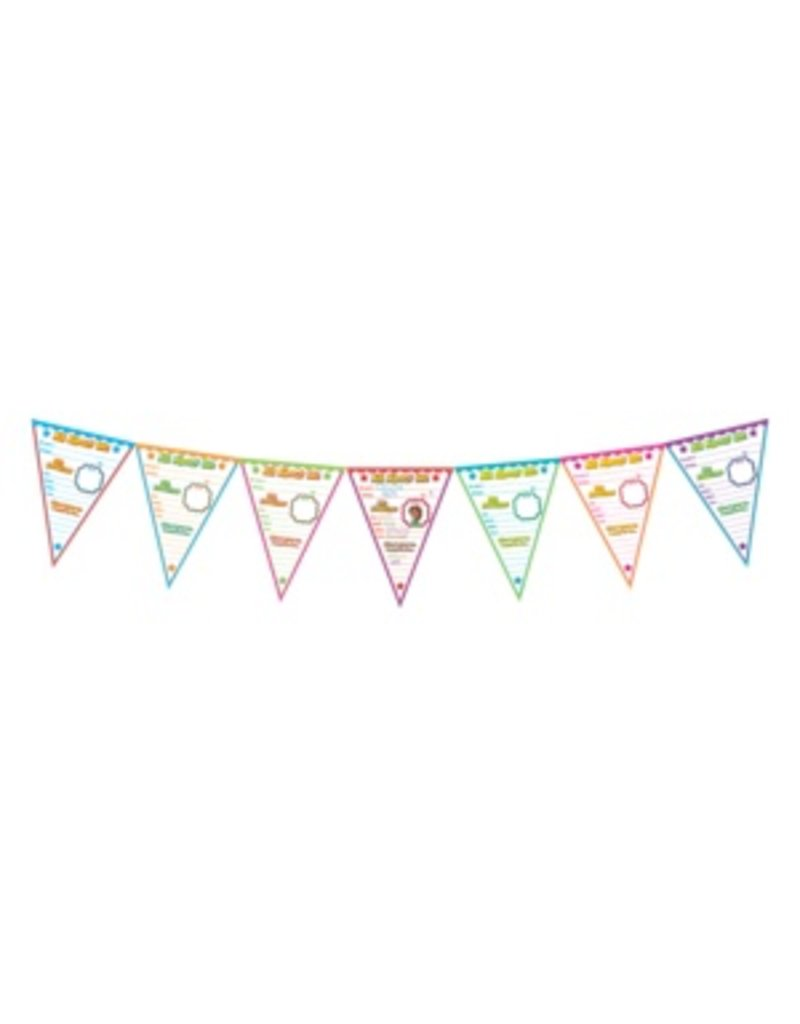 All About Me Pennants Bulletin Board