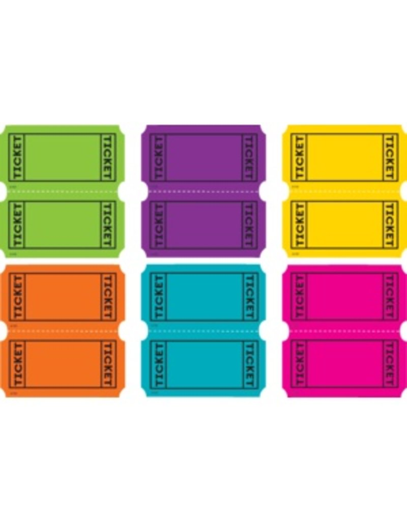 Bright Colors Tickets Mini Accents