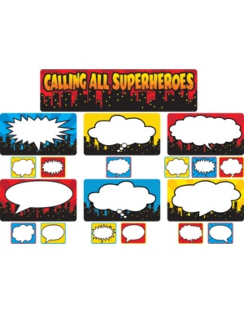 Calling All Superheros Mini Bulletin Board