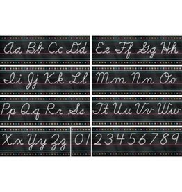Chalkboard Brights Cursive Writing Bulletin Board
