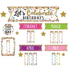 Confetti Lets Celebrate Birthdays Mini Bulletin Board