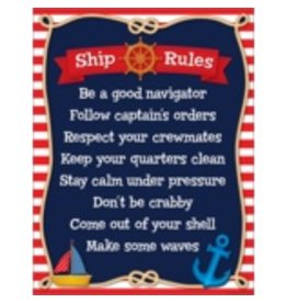 Nautical Ship Rules Chart