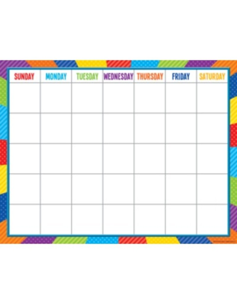 Playful Patterns Calendar Chart