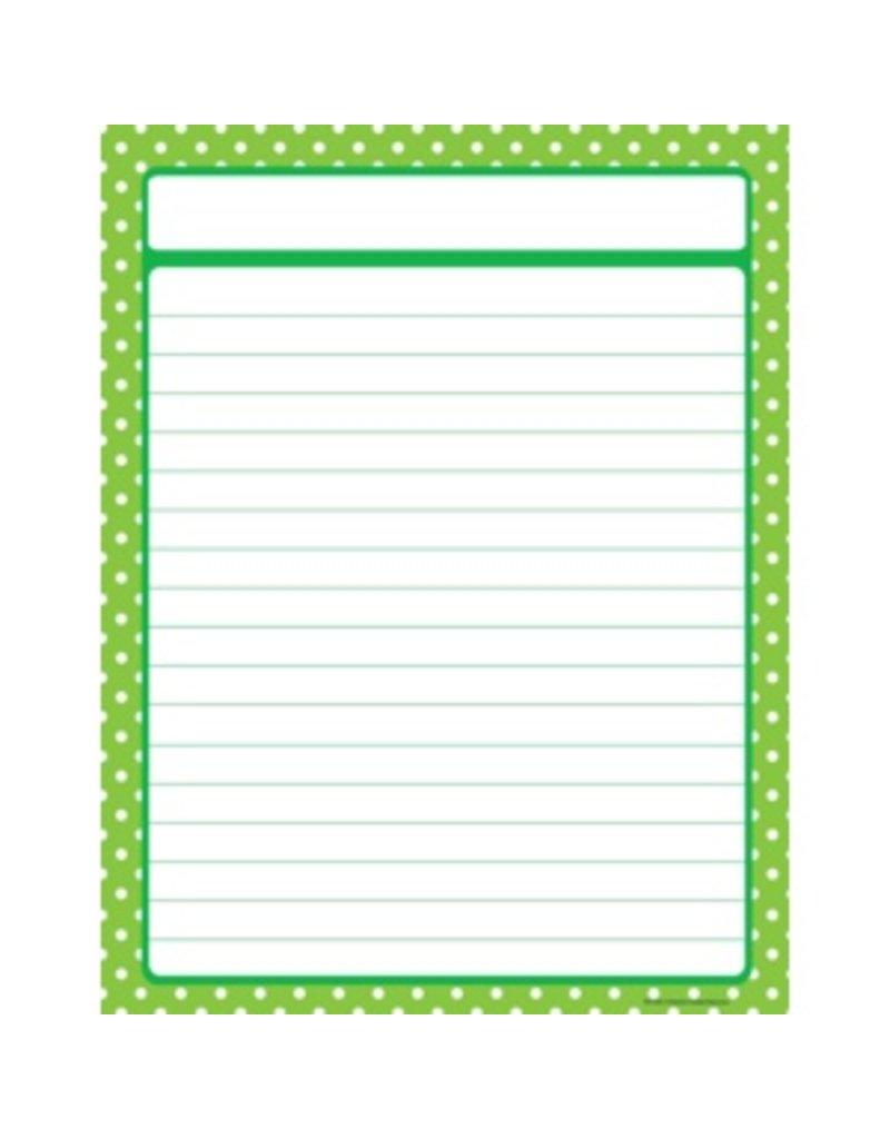 Lime Green Polka Dot Chart