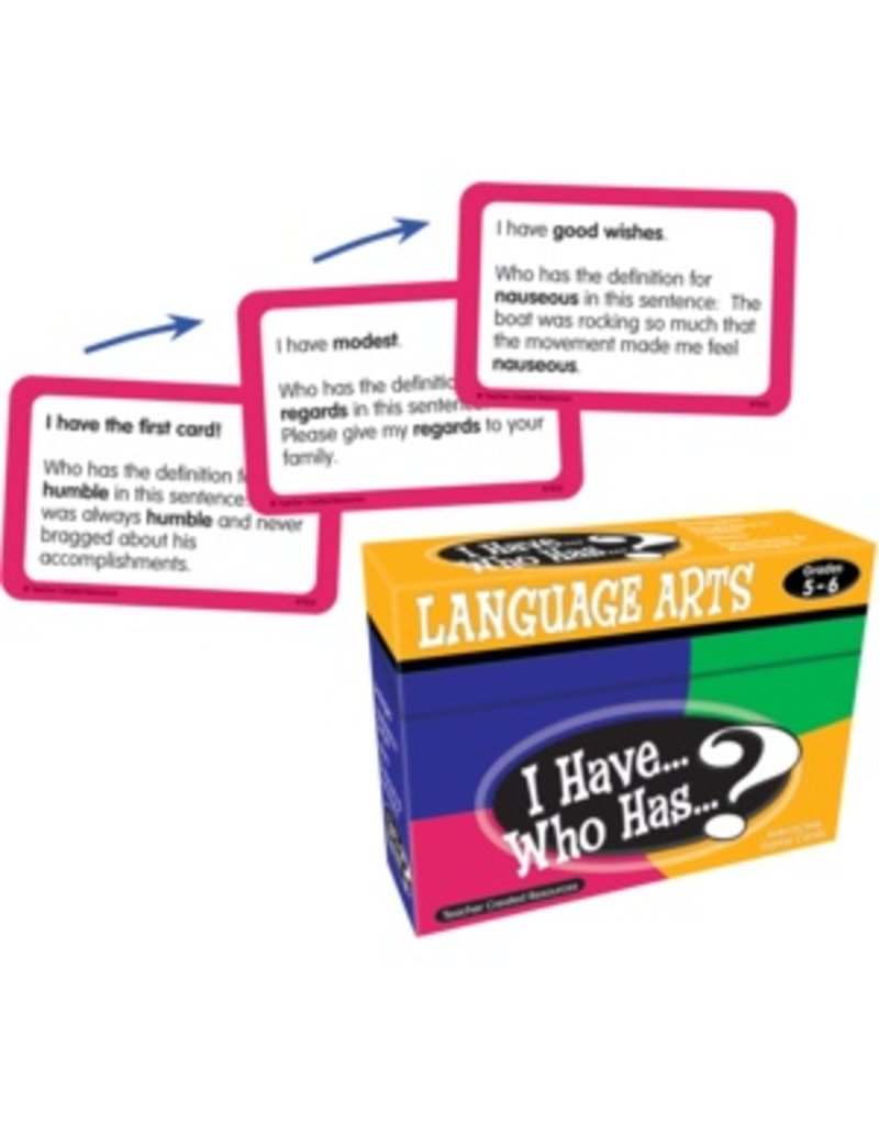 I Have… Who Has…? Language Arts Game (Gr. 5-6)
