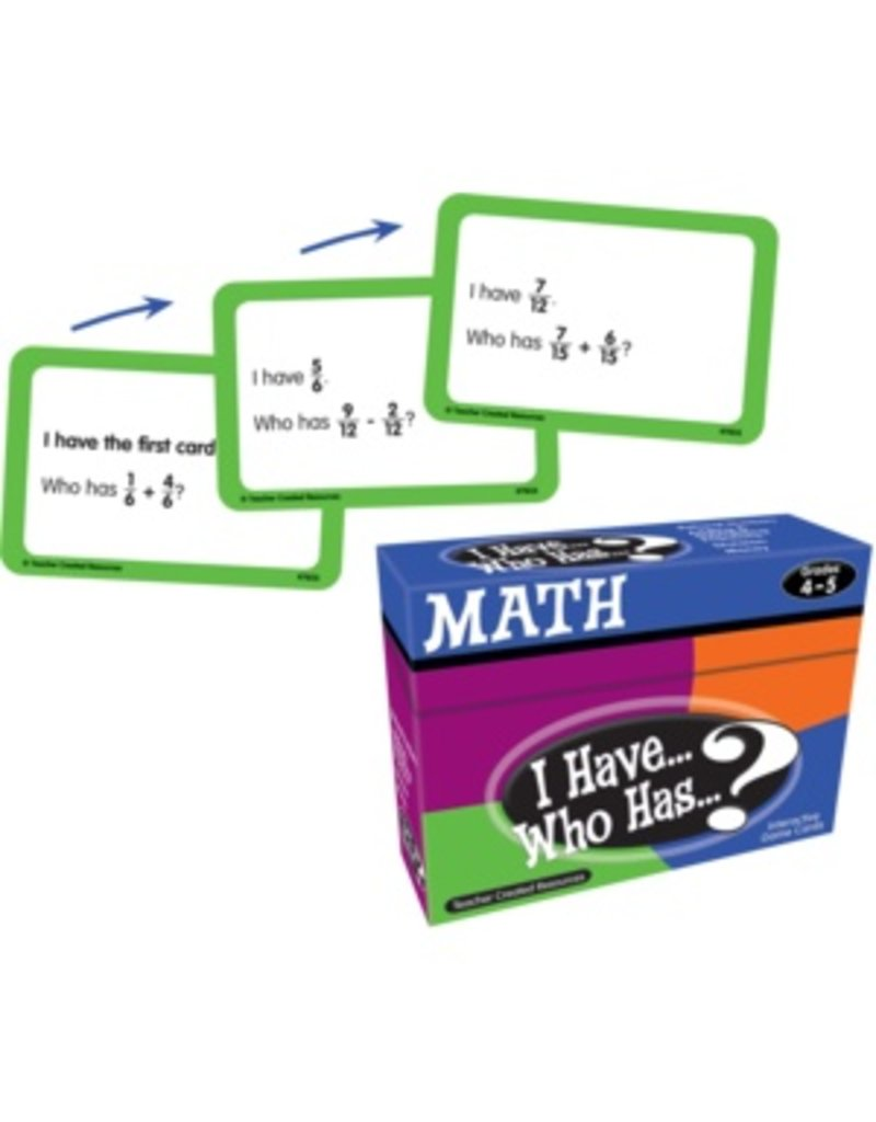 I Have… Who Has…? Math Game (Gr. 4-5)