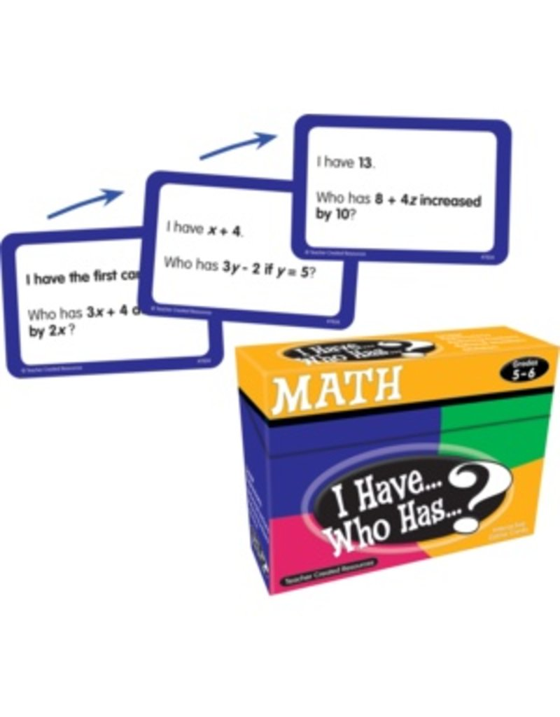 I Have… Who Has…? Math Game (Gr. 5-6)