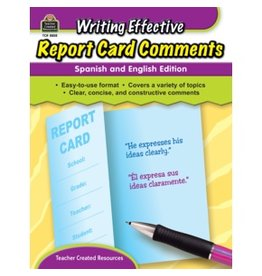 **Writing Effective Report Card Comments: Spanish and English Edition