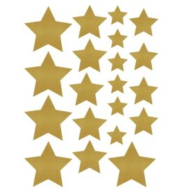Gold Shimmer Stars Assorted Sizes Accent