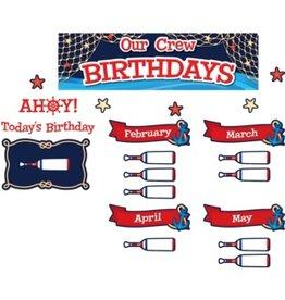 Nautical Our Crew Birthdays Mini Bulletin Board