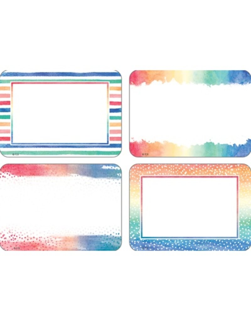 Watercolor Name Tags/Labels - Multi-Pack