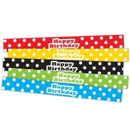 Polka Dots Happy Birthday Slap Bracelets