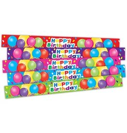 Happy Birthday Balloons Slap Bracelets