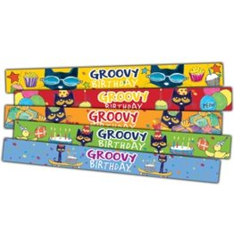 Pete the Cat Groovy Birthday Slap Bracelets