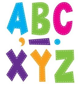 "Multi Bright Stitch 7"" Letters"