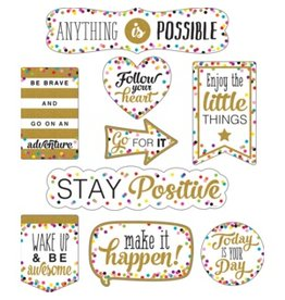 Clingy Thingies Confetti Positive Sayings Accents